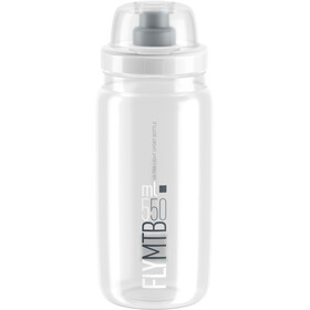 Elite Fly MTB Trinkflasche 550ml clear/graues logo